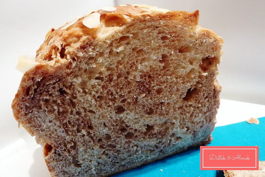 cukormentes puha teljes kiőrlésű márványos kalács szénhidrát diéta cukorbetegség inzulinrezisztencia ir étrend