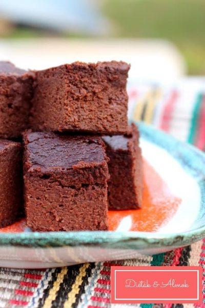 szezámos cukkinis brownie szénhidrát diéta cukorbetegség inzulinrezisztencia