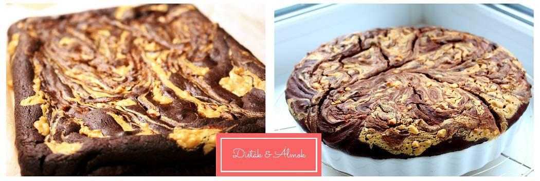 mogyoró sütőtök brownie szénhidrát diéta cukorbetegség inzulinrezisztencia