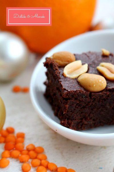 narancsos lencsés brownie liszt mentes szénhidrát diéta cukorbetegség inzulinrezisztencia