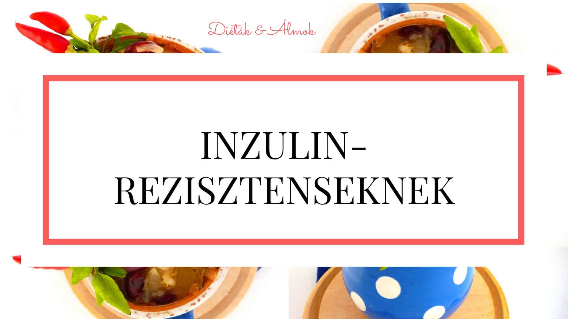 szénhidrát diéta tanfolyam inzulin-rezisztenseknek IR inzulinrezisztencia