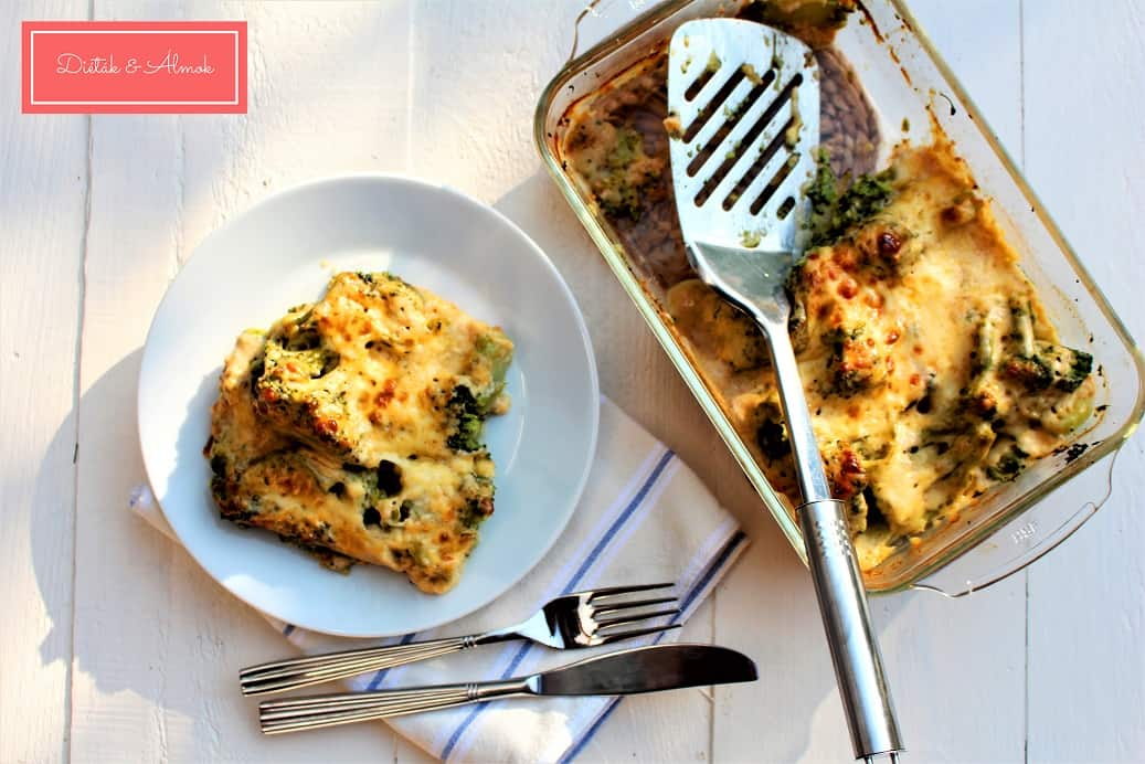 csőben sült sajtos brokkoli szénhidrát diéta cukorbetegség inzulinrezisztencia