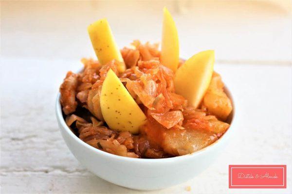 almás káposzta köret szénhidrát diéta cukorbetegség inzulinrezisztencia