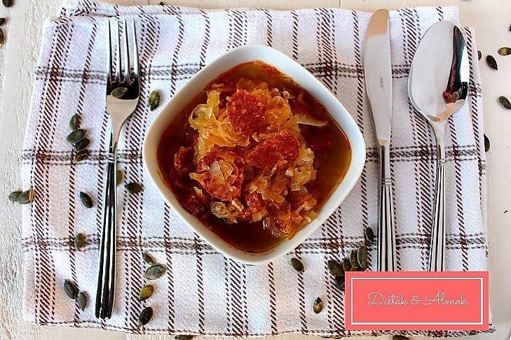 kolbászos káposzta leves tönkölybúza szénhidrát diéta cukorbetegség inzulinrezisztencia