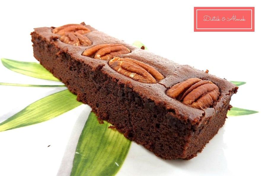 pekándiós brownie desszert szénhidrát diéta cukorbetegség inzulinrezisztencia