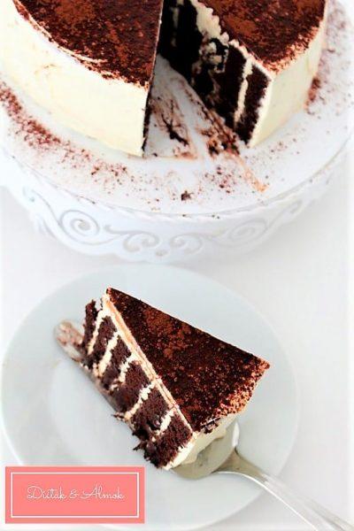 hamis tiramisu torta liszt nélkül szénhidrát diéta cukorbetegség inzulinrezisztencia