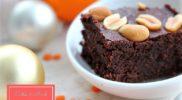 Narancsos-lencsés brownie liszt és cukor nélkül