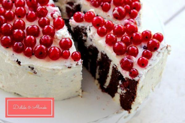 ribizli túró csoki szülinapi torta szénhidrát diéta cukorbetegség inzulinrezisztencia