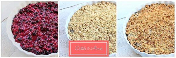 erdei gyümölcsös morzsasüti crumble desszert cukormentes szénhidrát diéta cukorbetegség inzulinrezisztencia