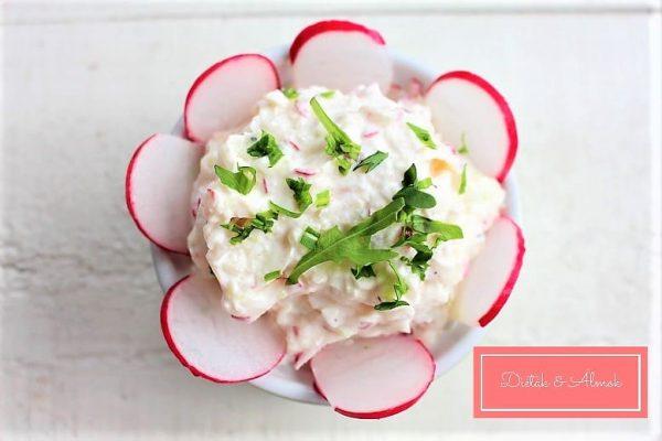 karalábé tzatziki retek saláta szénhidrát diéta cukorbetegség inzulinrezisztencia