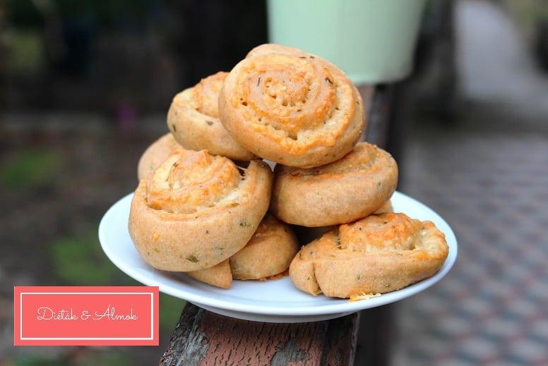 rukkolás sajtos csiga péksütemény szénhidrát diéta cukorbetegség inzulinrezisztencia