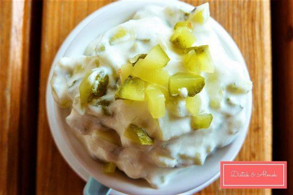 joghurtos savanyú uborkás kence mártogatós szénhidrát diéta cukorbetegség inzulinrezisztencia