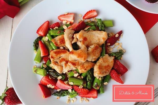 epres zabpelyhes spárga sült csirkemellel szénhidrát diéta cukorbetegség inzulinrezisztencia