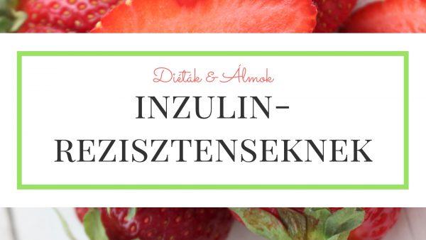 Inzulinrezisztencia szénhidrát diéta tanfolyam karácsony