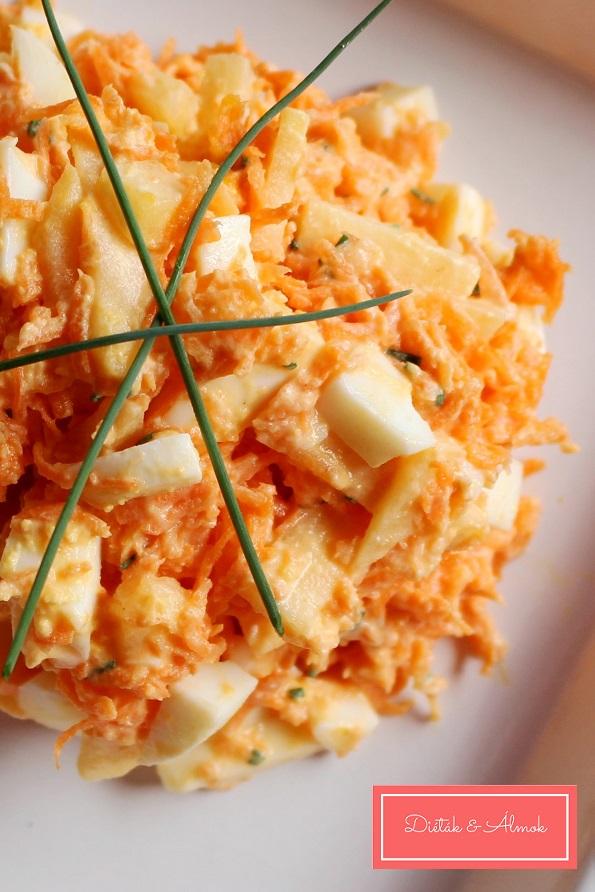 almás répás tojás saláta szénhidrát diéta cukorbetegség inzulinrezisztencia