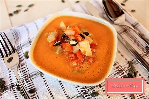 gyömbéres csicsókás sütőtök leves szénhidrát diéta cukorbetegség inzulinrezisztencia