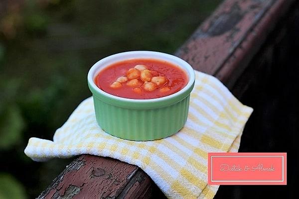 fűszeres paradicsom leves csicseriborsó lisztmentes szénhidrát diéta cukorbetegség inzulinrezisztencia