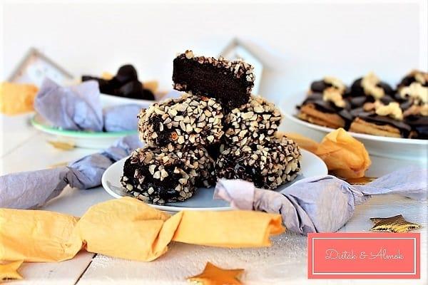mandulás csoki kocka lisztmentes cukormentes szénhidrát diéta cukorbetegség inzulinrezisztencia