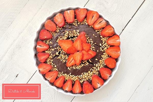almás epres brownie lisztmentes cukorbetegség inzulin rezisztencia szénhidrát diéta