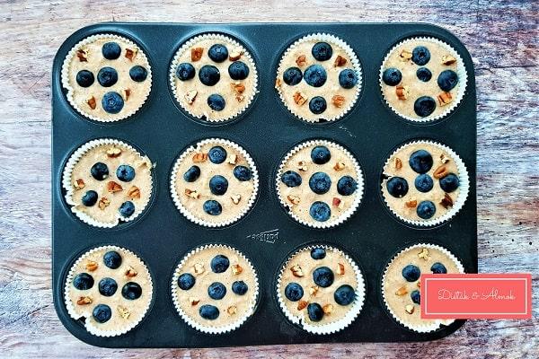 almás zabpelyhes muffin áfonyával desszert szénhidrát diéta cukorbetegség inzulinrezisztencia